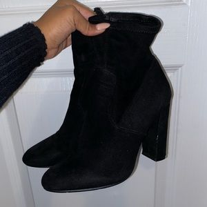 Steve Madden Shoes - Suede Black Heeled Bootie